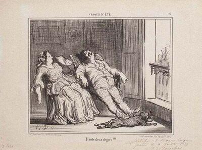 Honoré Daumier, 'Trente deux degrés!!!', 1857