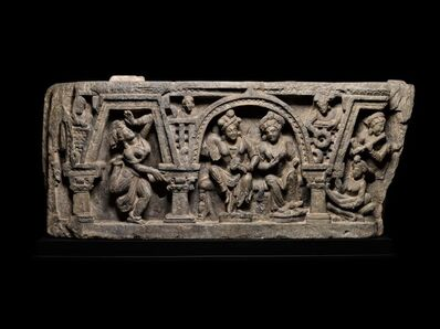 Gandharan, 'Panel depicting Siddharta with his wife', 2nd-3rd century