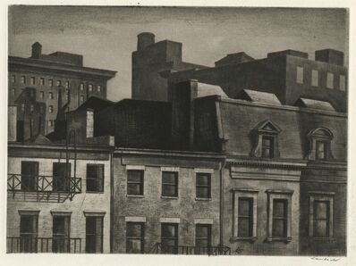Armin Landeck, 'Housetops, 14th Street', 1937