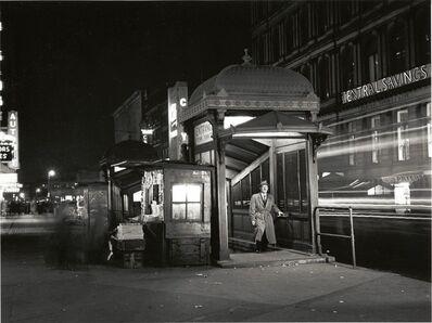 Alfred Gescheidt, 'Martin Lewis in a Subway Kiosk.', 1951
