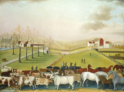 Edward Hicks, 'The Cornell Farm', 1848