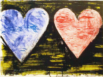 Jim Dine, 'Two Hearts at Sunset', 2005