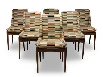 Robert Heritage, 'a set of six 'Hamilton' rosewood and upholstered chairs, for Archie Shine Ltd', c.1960s (6)