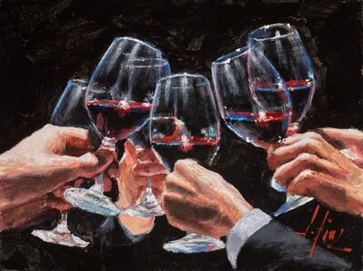 Fabian Perez, 'Study For a Better Life with Tinto (Red Wine)', 2019
