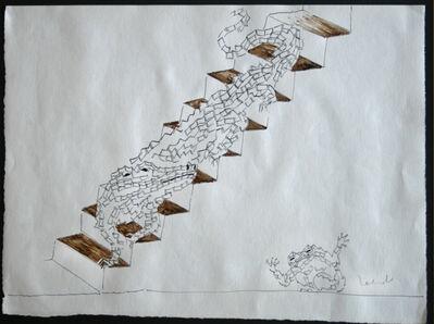 Francisco Toledo, 'Sapo y cocodrilo en escalera', S/F