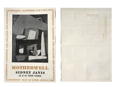 "Robert Motherwell, '""Motherwell"", Exhibition/Invitation/Mailer Poster, Sidney Janis Gallery NYC', 1957"