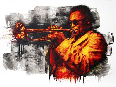 Mr. Brainwash, 'Miles Davis Red/Yellow', 2015