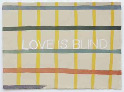 Julia Kuhl, 'Domestic Textiles Series, Love Is Blind', 2019