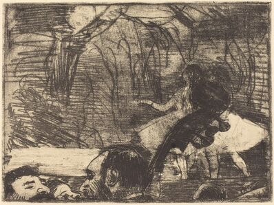 Edgar Degas, 'On Stage (Sur la scène (3e planche))', 1877