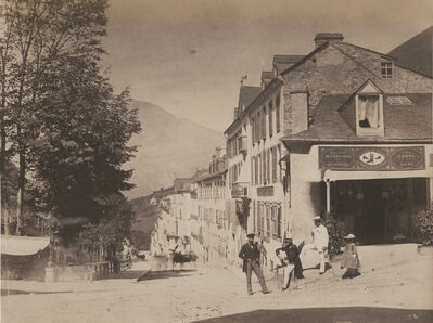 Jean-Jacques Heilmann, 'The Grand street of Eaux-Bonnes, Pyrenees-Atlantiques, France', 1854/1854
