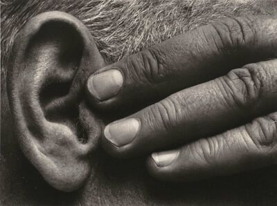 Brett Weston, 'Hand and Ear, Ramiel McGehee', 1930-printed circa 1975