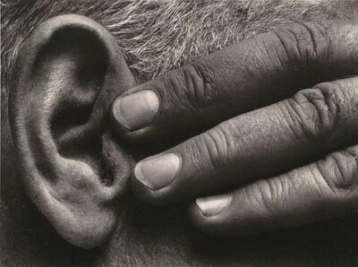 Brett Weston, 'Hand and Ear, Ramiel McGehee', 1930-printed circa 1975