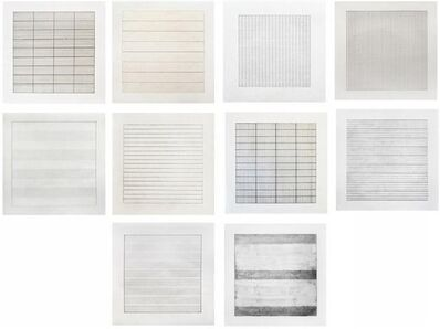 Agnes Martin, 'Paintings and Drawings 1974-1990 (set of 10)', 1991