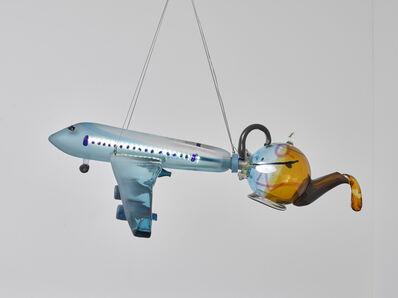 Laure Prouvost, 'Airplane teapot chandelier', 2019
