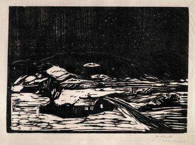 Edvard Munch, 'Snølandskap (Winter Landscape)', 1898