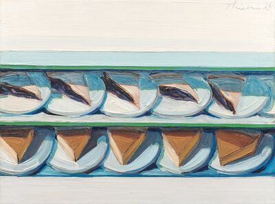 Wayne Thiebaud, 'Blueberry Custard', 1961