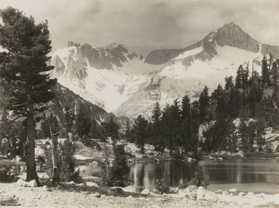 Ansel Adams, 'Mount Brewer, from the portfolio Parmelian Prints of the High Sierras', ca. 1925