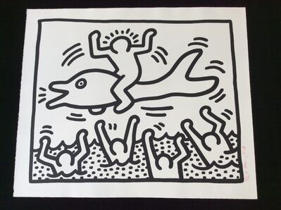Keith Haring, 'UNTITLED (Man on Dolphin) ', 1987