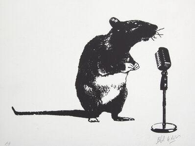 Blek le Rat, 'Crooner Rat', 2016