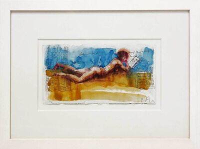 Christoph Pöggeler, 'Lesende am Strand - Reading Woman at the Beach', 2016