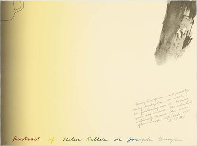 Shusaku Arakawa, 'Portrait of Helen Keller or Joseph Beuys', 1986