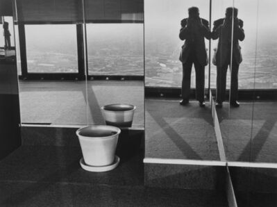 André Kertész, 'Portrait of Kertesz in Chicago - Sears Tower at time of Art Institute Show', 1985