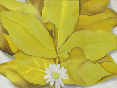 Georgia O'Keeffe, 'Yellow Hickory Leaves with Daisy', 1928