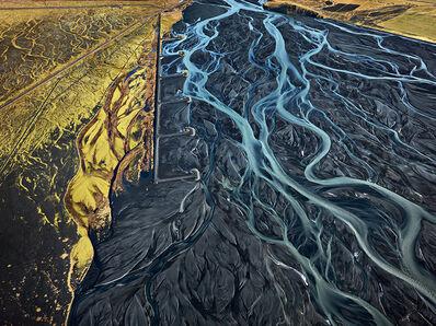 Edward Burtynsky, 'Markarfljót River #1, Erosion Control, Southern Region, Iceland', 2012