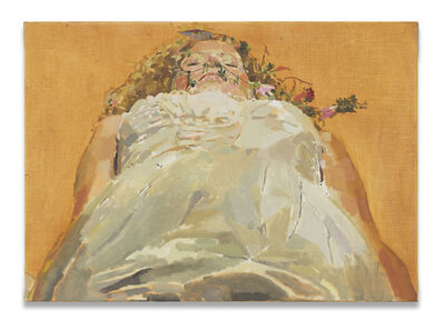 Fatma Shanan, 'Laying and flowers', 2021