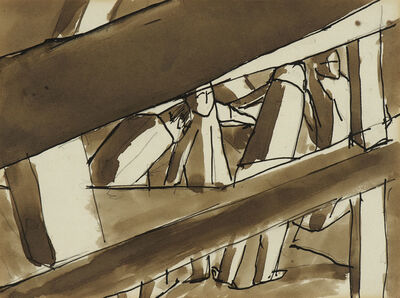 David Bomberg, 'Sappers Under Hill 60', 1918-1919