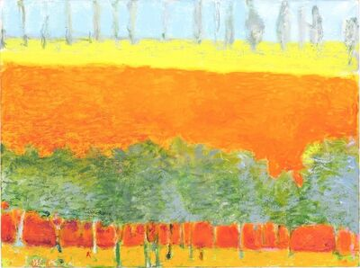 Wolf Kahn, 'Poplars on the Horizon (Small Version)', 2015