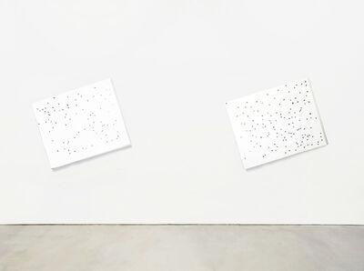 José Maldonado, 'SSSHHH (Almost White) white on white #1, #2', 2018