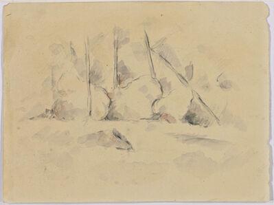 Paul Cézanne, 'Arbres Parmi des Rochers', ca. 1890