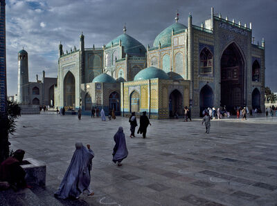 Steve McCurry, 'SALAT AT BLUE MOSQUE IN MAZAR-E-SHARIF, 1992', 1992