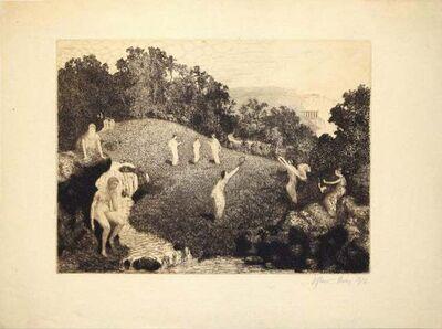 Jules Adrian Flour, 'Figures in the Landscape', 1916