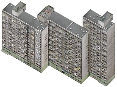 Nicolas Grospierre, 'Axonometric Housing Estate, Manhattan', 2007