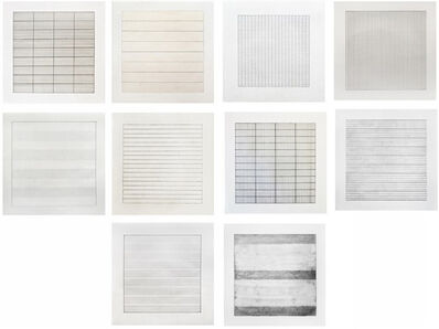Agnes Martin, 'Suite of Ten Lithographs', 1990