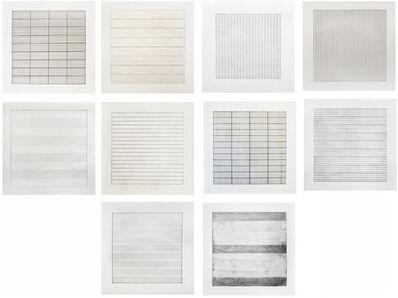 Agnes Martin, 'Suite of Ten Lithographs', 1990