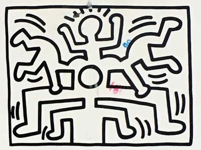 Keith Haring, '1980s Keith Haring announcement card', 1988