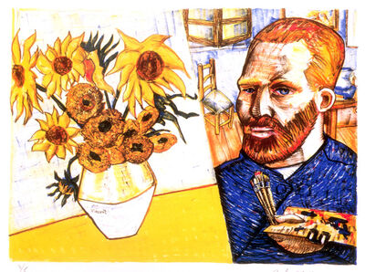 Red Grooms, 'Van Gogh with Sunflowers', 1988