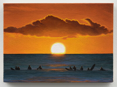 Rashell George, 'Sunset (with Surfers)', 2019