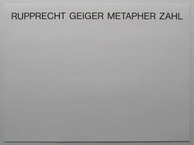Rupprecht Geiger, 'mappe metapher-zahl', 1986