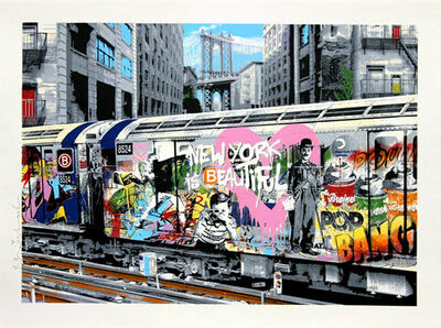 Mr. Brainwash, 'B Line', 2016