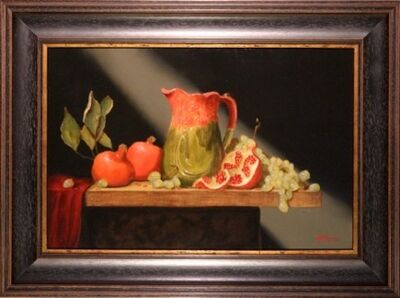 Bert Beirne, 'Composition in Red & Green'