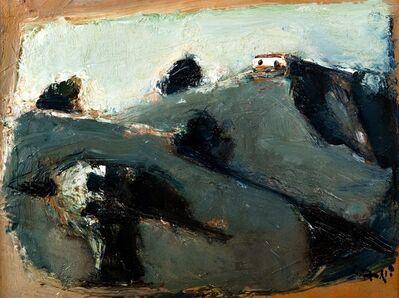 Mario Sironi, 'Mountains and house'