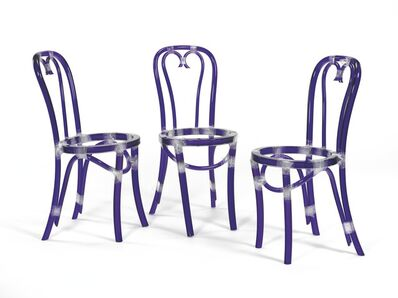 Rita McBride, 'Chairs (Blue)', 2000