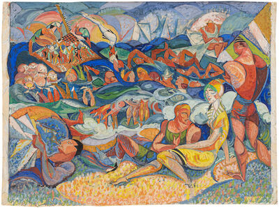 James Daugherty, 'Untitled (Joys of the Surf)', ca. 1914