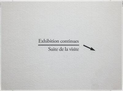 Ignasi Aballí, 'Exhibition continues', 2016