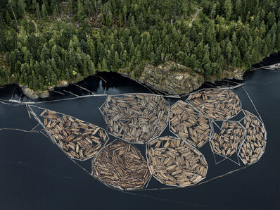 Edward Burtynsky, 'Log Booms #1, Vancouver Island, British Columbia, Canada', 2016