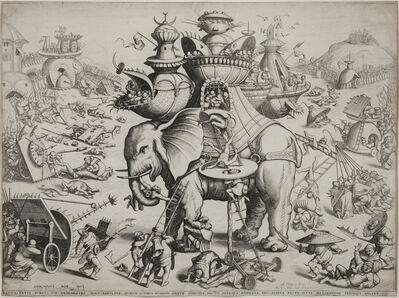 Hieronymus Bosch, 'The Siege of the Elephant', 1601